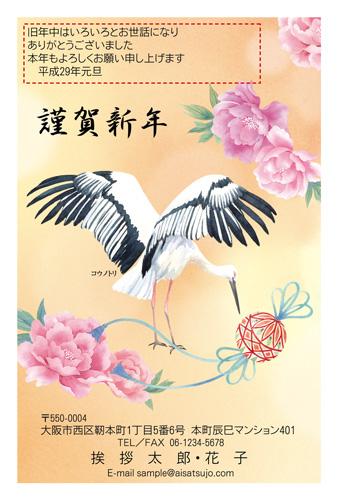 挨拶状ドットコムNIPPONの鳥デザイン年賀状2017-3
