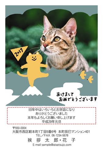 挨拶状ドットコム富士山デザイン、写真枠が1~2-1