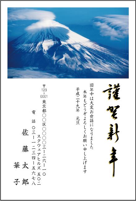 ネットスクウェア富士山デザイン年賀状2017-5