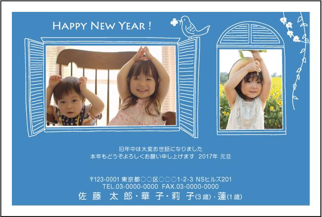 ネットスクウェア写真2枚タイプ年賀状2017-6