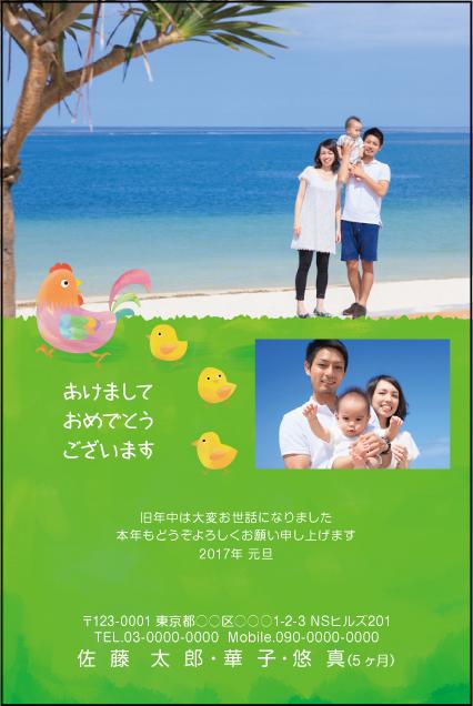 ネットスクウェア写真印刷年賀状2017違い-3