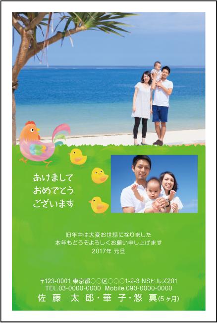 ネットスクウェア写真印刷年賀状2017違い-4