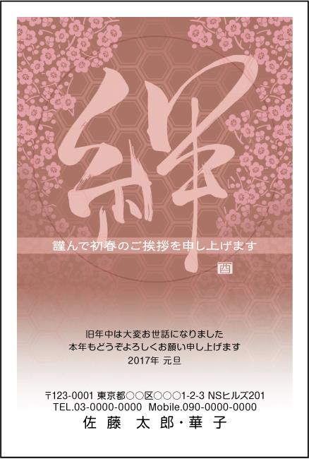 ネットスクウェア絆デザイン年賀状2017-5