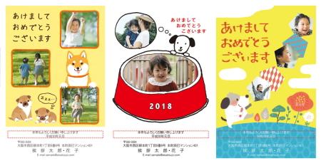 2018年(H30年)挨拶状ドットコムの年賀状写真フレームタイプ