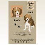 ネットスクウェア犬種別年賀状ビーグル