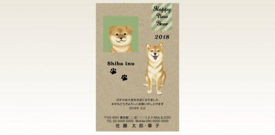 ネットスクウェア犬種別年賀状柴犬