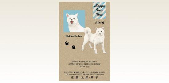 ネットスクウェア犬種別年賀状北海道犬