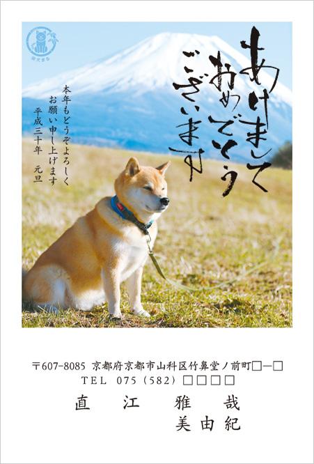 2018年柴犬まるデザイン年賀状印刷-1